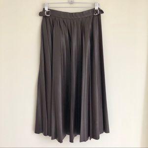 ZARA Vegan Leather Pleated Skirt — Like New — XS